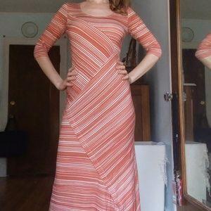 Peruvian Connection - rust striped circe dress